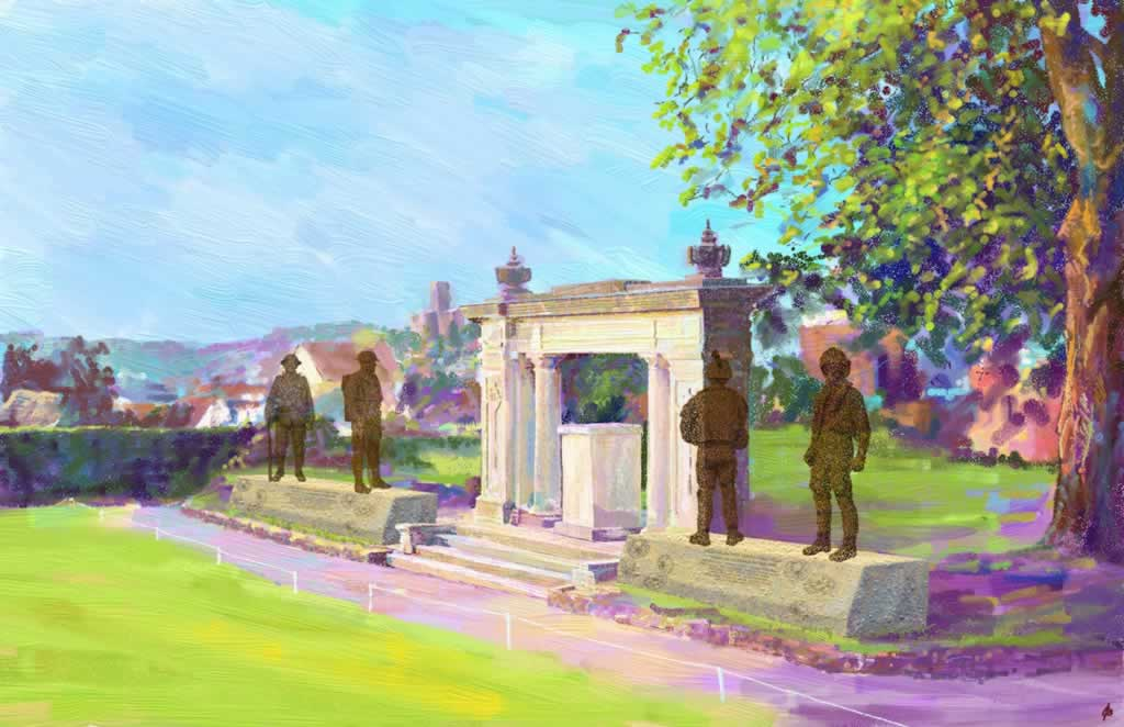 Design for War Memorial Guildford 2 - 2D drawing