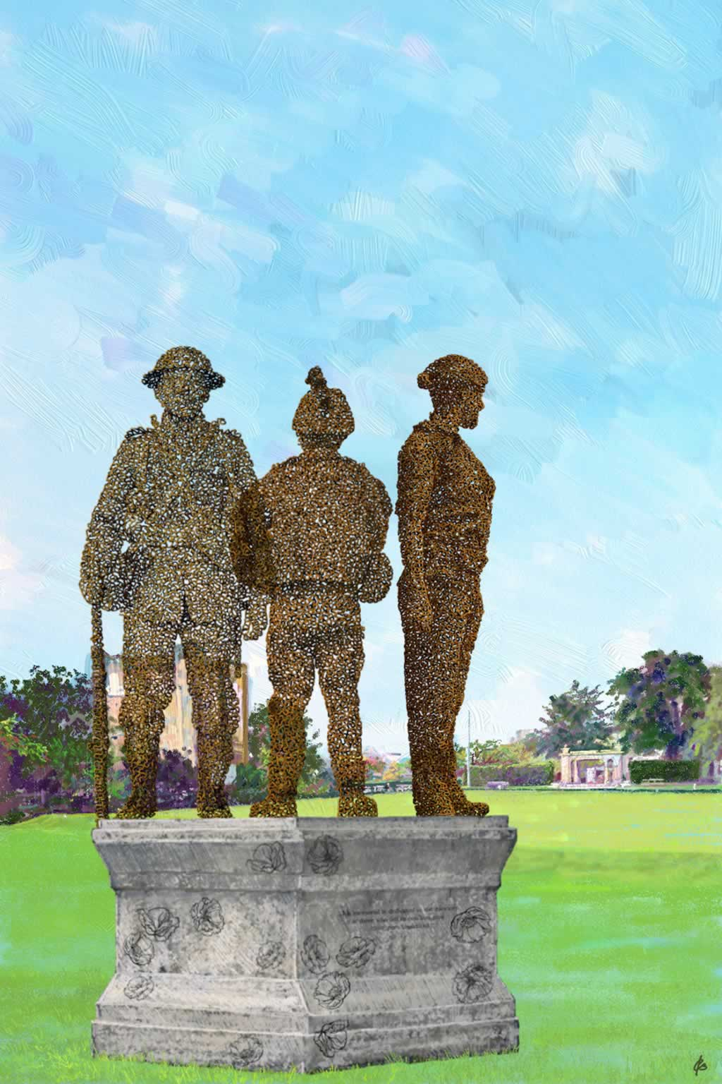Design 1 for War Memorial, Guildford - 2D drawing