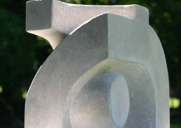 Dualism (abstract sculpture) by sculptor Ian Campbell-Briggs