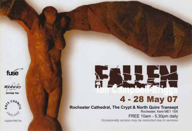 Fallen exhibition at Rochester Cathedral invitation