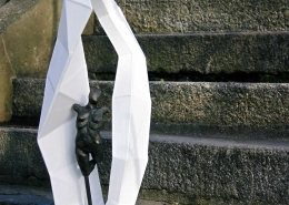 Liminal Space (abstract figurative sculpture) by sculptor Ian Campbell-Briggs