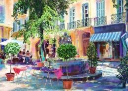 Place des Trois-Ormeaux, Aix-en-Provence - 2D drawing