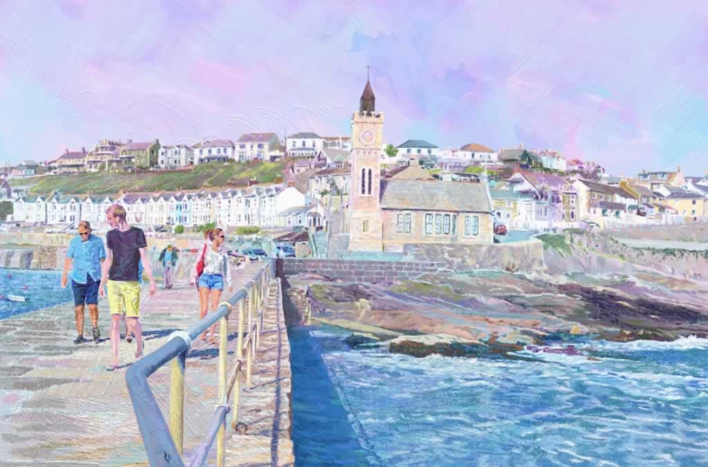 Porthleven Pier - 2D drawing