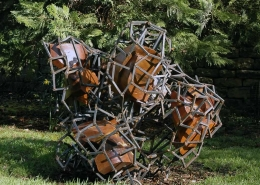 Quintessence at Burghley House (abstract sculpture) by sculptor Ian Campbell-Briggs