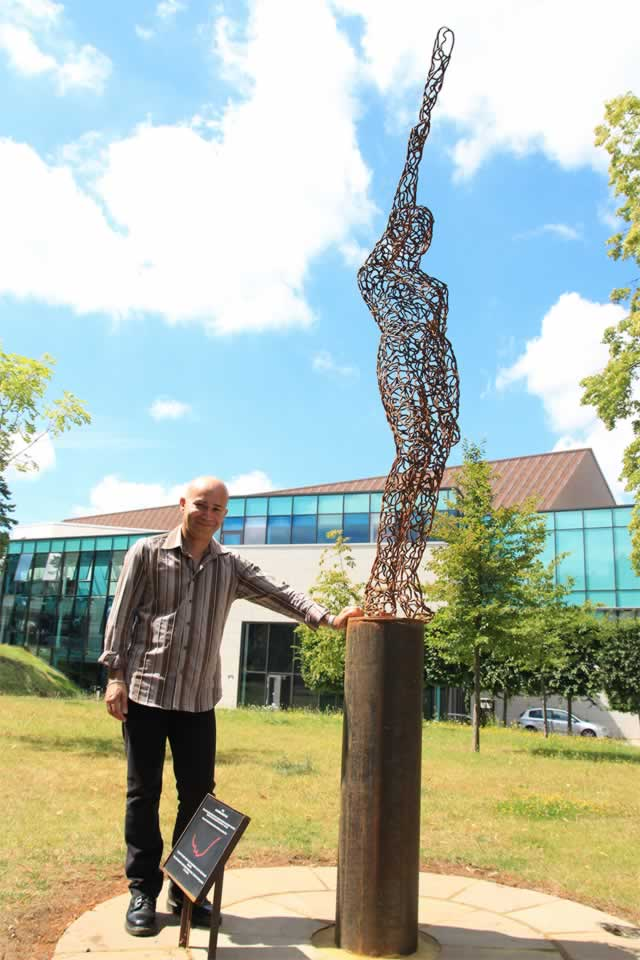 Juno commission at G-Live, Guildford with sculptor, Ian Campbell-Briggs (abstract figurative sculpture)