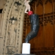 Vortex II at Rochester Cathedral (abstract figurative sculpture) by sculptor Ian Campbell-Briggs
