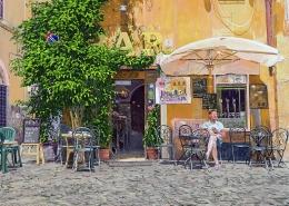 Bar Del Cinque, Trastevere, Rome - 2D drawing