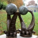 IOPC Funds Trophies (abstract sculpture) by sculptor Ian Campbell-Briggs