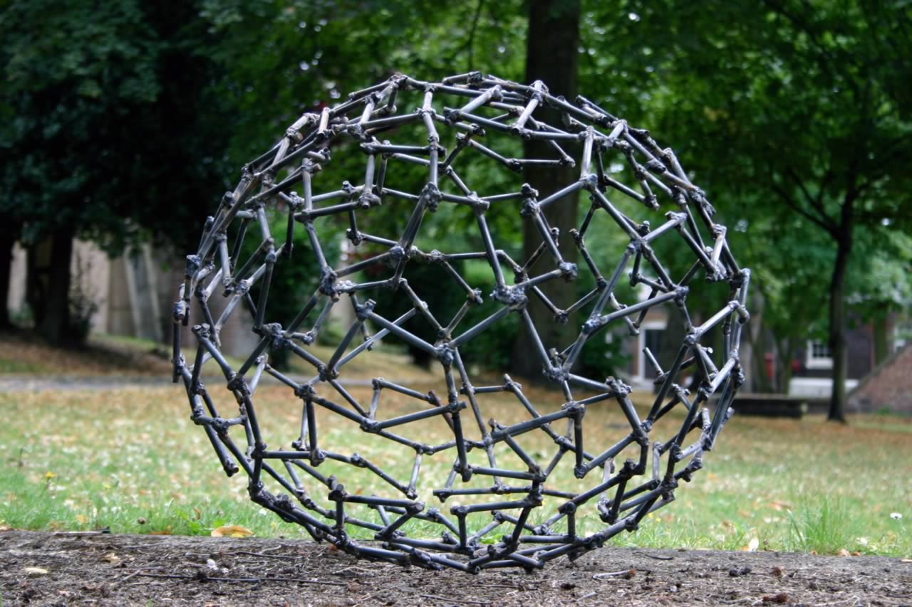 Labyrinth - (abstract sculpture) by sculptor Ian Campbell-Briggs